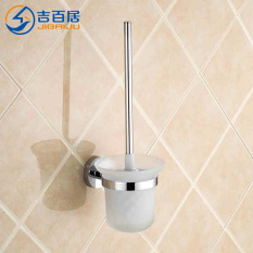Best Offer Jibaiju Stainless Steel Toilet Bathroom Toilet Brush Holder
