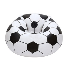 jiechuan Inflatable Football Sofa Cool Design Bean Bag High Quality Eco-friendly Pvc For Adults And Kids,Black+white, Large - intl