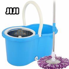 Jiji (360 Magic Spinning Mop - 5 Mop Cloths) - Water Saving Speed Spinning Dry Mop Cleaner (sg) By Jiji