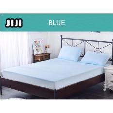 For Sale Jiji 90 X 200Cm Blue Single Fitted Cover Bamboo Fiber Waterproof Bedsheet Mattress Protector Prevents Bedbugs Washable Towel Bedsheet