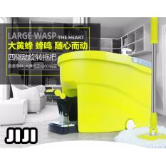 Promo Jiji All In 1 Bumblebee Stepping 2 Mop Heads Set Lime Green 5 Mop Heads Spin Mops 360 Magic Dual Spin Mop Stainless Steel Basket 2 In 1 Automatic Spin Dry Mop