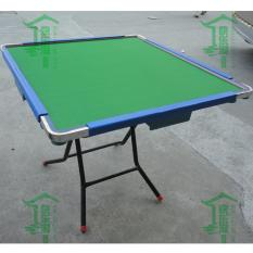 JIJI Traditional Folding Mahjong Table - Blue Frame - Green Table Top (Free Installation) (Mahjong Table) / Mahjongs/ Foldable Mahjong table (SG)