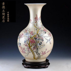 Jingdezhen Ceramic Works Golden Look Very Happy Pastel Vase Decorating Vase HYUNDAI Fashion Domestic Ornaments