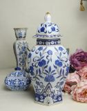 Get The Best Price For Retro Blue And White Ceramic European Storage Tank Jingdezhen Porcelain