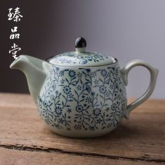 Top Rated Jingdezhen Blue And White Porcelain Teapot Ceramic Home Large Number Capacity Tea Kettle Filter Hot And Cold Water Office