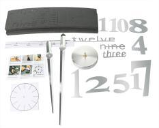 jingot 3D Mirror Surface DIY Big Digital Modern Creative Home Decor Round Wall Clock,Silver