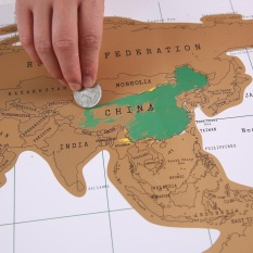 jingot Scratch Off World Map,Scratch Off World Travel Tracker Poster Map,30x42.5cm,Black - intl