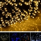 Review Jo In 17M 100 Led Solar String Light Waterproof Christmas Party Decor Light Yellow On China