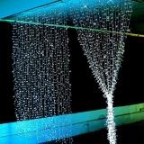 Jo In 3Mx3M 400Led Christmas Xmas String Fairy Wedding Curtain Light With Tail Plug Eu 220V White White Free Shipping