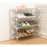 Joy Stainless Steel Multifunctional Storage Rack Shoe Cabinet Silver Intl China