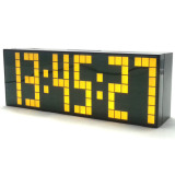 Buy Jumbo Digital Electronic Clock Led Alarm Clock 6 Digits Yellow Cheap On China