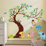 Price Jungle Animals Tree Monkey Owl Removable Wall Decal Stickers Nursery Room Decor Export Oem China