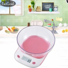 Jvgood Digital Kitchen Scale, Protable Electronic Mini Food Scale With Scale Tray,105.8oz/6.6lb/3kg Capacity,pink By Jvgood.