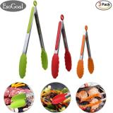 Buy Jvgood Food Tongs Set Of 3 7 9 12 Inch Heavy Duty Stainless Steel Kitchen Tongs With Silicone Tips Multicolor Green Red Orange Online