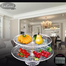 Where Can You Buy Jvgood Fruit Plate 2 Tier Acrylic Plate For Fruits Cakes Desserts Candy Buffet Stand For Home Party With Free 50Pcs Fruit Forks