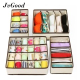 Price Jvgood Organizer 4Pcs Bra Underwear Closet Socks Ties Storage Box Organizer Drawer Divider Set Intl Jvgood Original