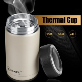 Kaxifei Stainless Steel Vacuum Thermal Insulated Travel Flask Coffee Cup Champagne Intl Best Buy