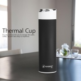 Review Kaxifei Stainless Steel Vacuum Thermal Insulated Travel Mug Bottle Flask Coffee Cup Black Intl On China