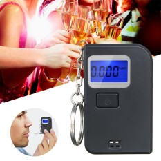 Price Keychain Breathalyzer Portable Keyring Breath Alcohol Tester Black Intl Not Specified Original