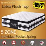 Low Price King Size Unique Latex Mattress 12 Inches Latex Plush Top 5 Zone Individually Pocketed Spring
