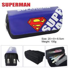 Buy Kisnow Anime Multifunctional Double Zipper Canvas Pencil Bag Handbag Purses Pencil Boxes Color Superman Intl Superman Original