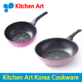 Kitchen Art Frying Pan 1 1 Baby Pan 20Cm Wok 28Cm Korea Number One Frying Pan Diamond Exoramic Frypan Diamond Diecasting Grill Pans Court Fan Skillet Cheap