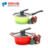 Latest Kitchen Art Pot Set Two Hand Pot 16Cm One Hand Pot 18Cm Metal Casted Ceramic Coating Cooking Pot Frying Pan Korea Number One Pot
