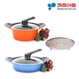 Compare Price Kitchen Art Pot Set Two Hand Pot 20Cm Stew Pot 24Cm Metal Casted Ceramic Coating Cooking Pot Frying Pan Korea Number One Pot On South Korea