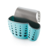 Purchase Kitchen Double Layer Sink Caddy Saddle Style Organizer Storage Sponge Holder Rack Tool Blue Intl