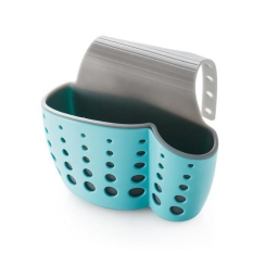 Best Price Kitchen Double Layer Sink Caddy Saddle Style Organizer Storage Sponge Holder Rack Tool Blue Intl