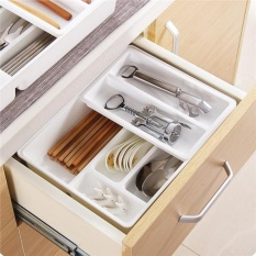 Kitchen Drawer Organizer Removable Plastic Multiple Slots Silverware Tray Utensil Tray For Home Intl Price Comparison