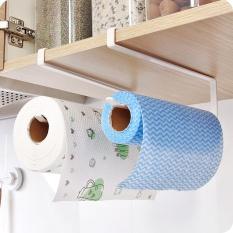 Buy Cheap Kitchen Paper Holder Hanging Tissue Towel Rack Bathroom Toilet Roll Paper Towel Holder Kitchen Cabinet Storage Rack (White) Intl
