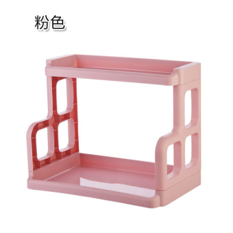 Best Kitchen Shelf Plastic Seasoning Rack Double Seasoning Products Seasoning Rack Bathroom Table Storage Rack