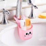 Kitchen Sink Hanging Shelving Rack Drain Faucet Storage Pail Shelves Pink Review