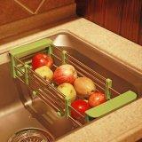 Sale Kitchen Srorage Creative Stainless Steel Kitchen Drain Basket Frame Telescopic Chopsticks Sink Drainboard Intl Oem On China