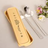 Recent Kitshine304 Suit Chopsticks Spoon Student Tableware Travel Cutlery Box Chopsticks Spoon