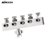 Buy Kkmoom High Quality 5 Way Airbrush Air Hose Splitter With Regulated Metering Manifold 1 4 Bsp Female Inlet 1 8 Bsp Male Air Outlet Intl Not Specified