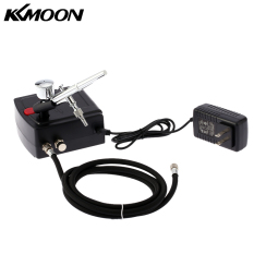 Price Kkmoon 100 250V Professional Gravity Feed Dual Action Airbrush Air Compressor Kit For Art Painting Tattoo Manicure Craft Cake Spray Model Air Brush Nail Tool Set Intl Hong Kong Sar China