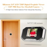 For Sale Kkmoon 3 Lcd 720P Digital Peephole Viewer 160� Pir Door Eye Doorbell Camera Ir Night Vision Motion Detection Photo Taking Video Recording For Home Security Intl