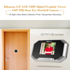 Discounted Kkmoon 3 Lcd 720P Digital Peephole Viewer 160� Pir Door Eye Doorbell Camera Ir Night Vision Motion Detection Photo Taking Video Recording For Home Security Intl
