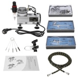 Price Kkmoon Brand New Professional 3 Airbrush Kit With Air Compressor Dual Action Hobby Spray Air Brush Set Tattoo Nail Art Paint Supply W Cleaning Brush Intl On China