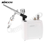 Top 10 Kkmoon New 110 240V Professional Gravity Feed Dual Action Airbrush Air Compressor Kit For Art Painting Makeup Manicure Craft Cake Spray Model Air Brush Nail Tool Set White Intl