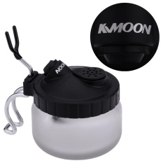 Kkmoon Professional Airbrush Cleaning Pot Glass Air Brush Holder Clean Paint Jar Bottle Manicures Tattoo Supply Intl Deal