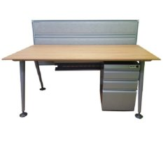 Single Workstation With Back Panel And 3 Drawer Pedestal Promo Code