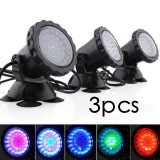 Best Buy Kobwa 3Pcs Submersible Lamp Pond Spotlight 36 Led Color Changing Aquarium Landscape Light For Swimming Pool Fish Tank Fountain Rockery Grass Land Uk Plug Intl