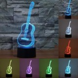Sale Kobwa Creative 3D Led Night Light 7 Colors Changing Illusion Lamp With Smart Touch Button﹠usb Cable Atmosphere Light For Kids Birthday Christmas Gift Home Decoration Party Guitar Intl Kobwa Online