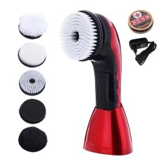 For Sale Kobwa Electric Shoe Polisher Shoes Scrubber Portable Handheld Shoe Cleaning Brush Kit For Leather Shoes Eu Plug Intl