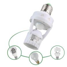 Kobwa Infrared Sensor Holder Motion Light Sensor Lamp Socket PIR Automatic LED Lights Switches E27 Lamp Holder - intl