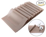 Kobwa Table Placemat Kitchen Washable Heat Protection Mats For Dining Table Set Of 8 Gold Intl Coupon