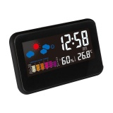 Koklopo Multi Function Indoor Humidity Monitor Hygrometer Desk Digital Thermometer With Large Colorful Lcd Display Weather Forecast Calendar Alarm Clock Snooze Voice Control Backlight Function Intl Lower Price